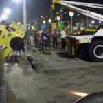 Un taxista y una mujer se fueron de cabeza al río Magdalena con todo y carro en El Malecón de Barranquilla