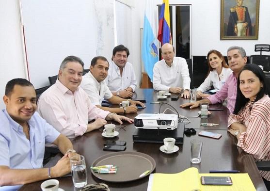 Bancada parlamentaria del Magdalena el alcalde (e) de Santa Marta y la Gobernadora Rosa Cotes, buscan solución definitiva a crisis del agua