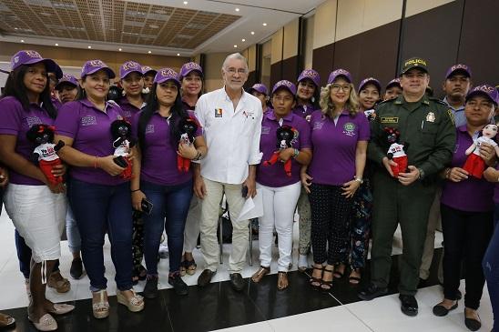Policía y Gobernación conformaron la Red de Apoyo y Comunicaciones RAC, Mujeres Atlántico