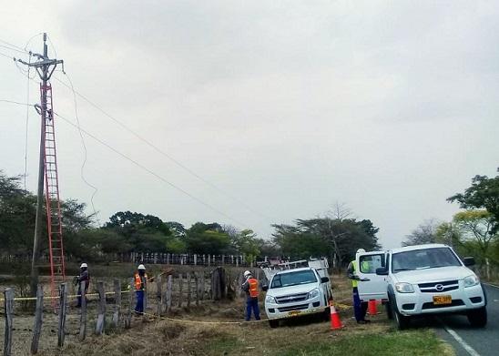 Corredor turístico de Tubará, Piojó y Juan de Acosta, sin energía hasta las 5:00 de la tarde por mantenimientos
