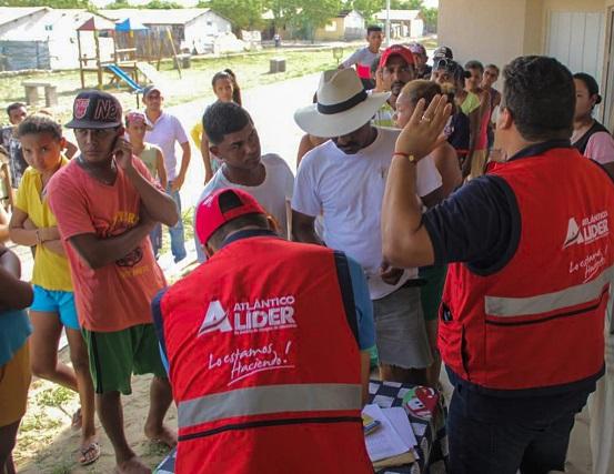 Gestión del Riesgo culmina entrega de ayudas a los afectados por vendaval en Candelaria, Atlántico