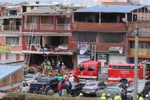 Explosión en La Estrada, Engativá en Bogotá, deja 4 muertos y 26 personas heridas