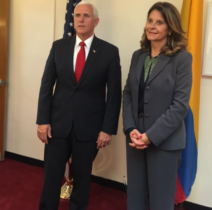 En gira por los EEUU, la Vicepresidenta Martha Lucía Ramírez logra apoyo del Vice Preidente Mike Pence y el Secretario de Defensa en la lucha antidroga