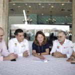 Vicepresidenta y gobernadores de Bolívar y Atlántico que logran acuerdo para el cierre financiero del Canal del Dique