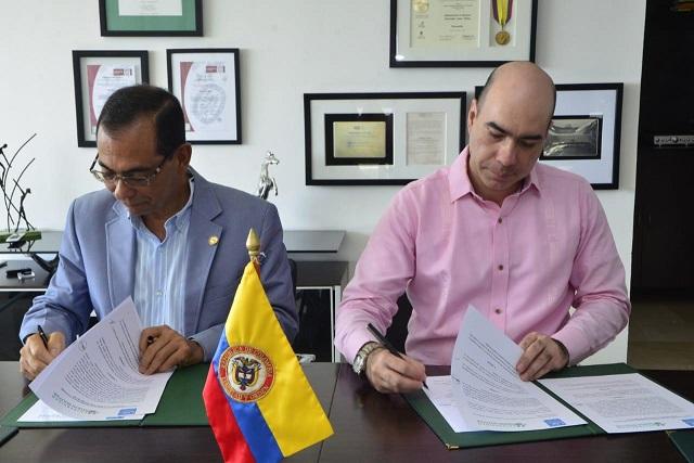 Firman convenio Unisimón y Universidad Santiago de Cali en diferentes áreas de la educación y la investigación