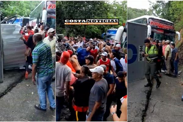 Se accidenta en Santánder uno de los buses que salió de Barranquilla a presenciar el partido Junior Pasto. Conductor de un furgón único herido, aficionados ilesos.