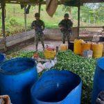 Ejército desmantela 4 laboratorios en el Bajo Cauca antioqueño y Sur de Córdoba