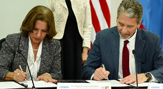 MinJusticia firma convenio entre Estados Unidos y Colombia sobre gestión de activos incautados que estarán a cargo de la SAE