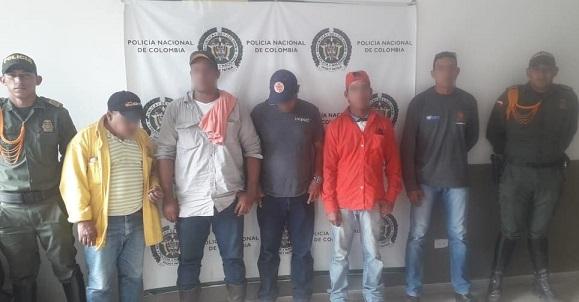 En operativos contra la explotación ilegal de yacimientos Policía capturó en el municipio de Baranoa, Atlántico cinco personas