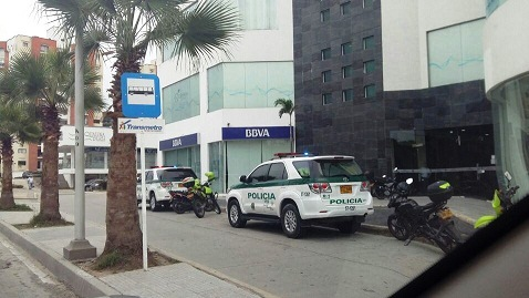 Asaltado el Banco BBVA del Gran Boulevar en Barranquilla