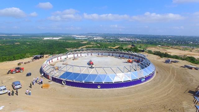Tanque de almacenamiento en construcción abastecerá de agua a municipios del área metropolitana de Barranquilla