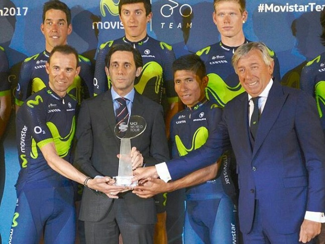 Movistar Team presentó su plantilla 2017 para revalidar su título de mejor equipo del mundo