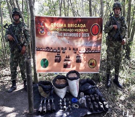 Hallazgo deposito ilegal con Explosivos y municiones en La Guajira