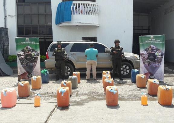 Capturada pareja venezolana por contrabando de hidrocarburos en La Guajira