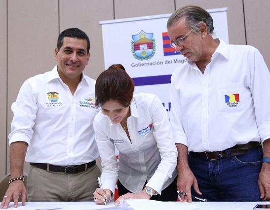 Gobernadores, firmaron carta de intención para reafirmar el compromiso del proyecto del Tren Caribe