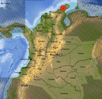 Con intensidad de 5.5 tembló en la Costa Caribe colombiana, aunque también se sintió en Venezuela