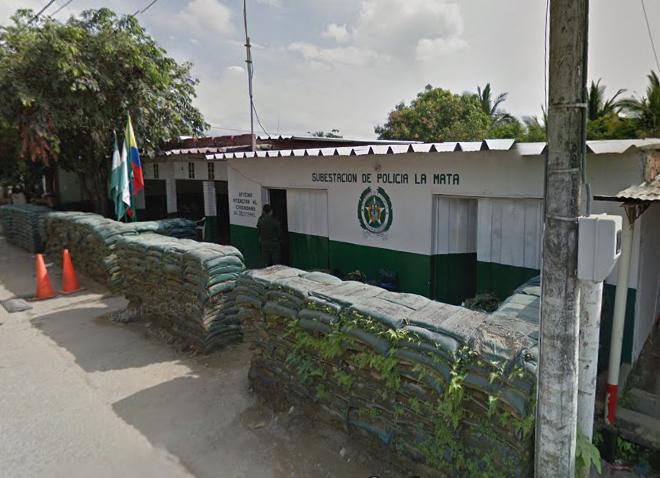 Dos uniformados heridos en atentado terrorista contra la subestación de Policía en La Mata, Cesar