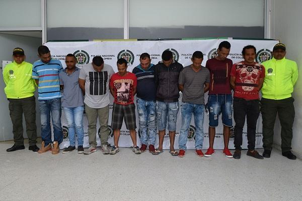 En el Atlántico Policía captura a 10 por abigeato, pertenecían del grupo delincuencial Los Malamberos