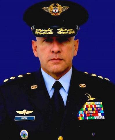 Comandante de la Fuerza Aérea Colombiana, mayor general Ramsés Rueda Rueda