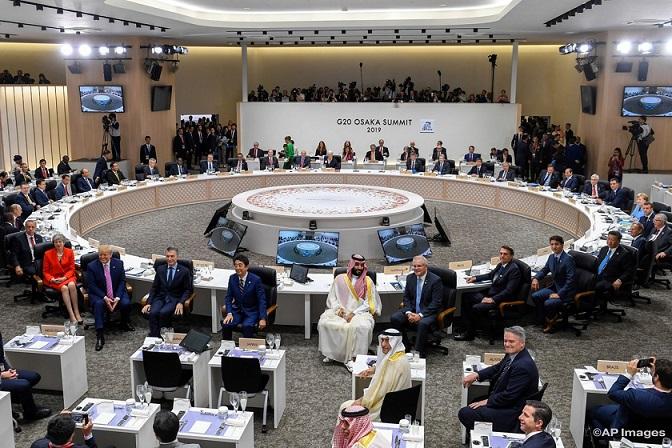 Inició la Cumbre del G20 en Osaka, Japón. Trump da línea sobre la política mundial, sostiene reuniones bilaterales con Alemania, Rusia, Japón, India y Brasil entre otros países