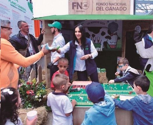 25.000 niños en visita al quiosco del FNG en Agroexpo 2019 fueron capacitados con lúdicas sobre el poder nutritivo de la leche