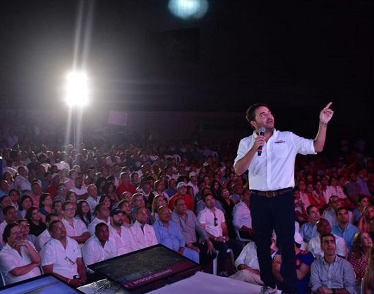 En el Parque Cultural del Caribe, ante más de 1.000 personas Jaime Pumarejo presentó su plan de gobierno para una Barranquilla Imparable