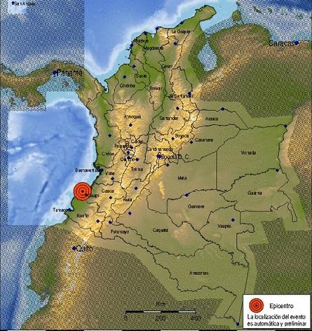 Sismo de 5.3 en el Océano Pacífico a 25 kilómetros de Guapi, Cauca sacude esa área costera