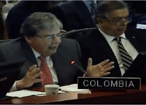 Colombia denunció en la OEA la relación de cooperación entre los grupos armados ilegales y el régimen de Nicolás Maduro