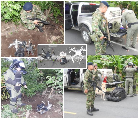 Con drones cargados con explosivos terroristas planeaban atentar contra aeronaves, instalaciones y personal militar y policial