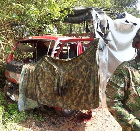 En Tibú, terroristas emboscaron tropas del batallón Masa que se movilizaban en un camión: 2 soldados muertos y 3 heridos