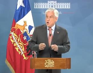 Piñera reconoce la injusticia en Chile. Advirtió que viene acumulada de décadas. Propuso una Nueva Agenda Social y un plan de reconstrucción
