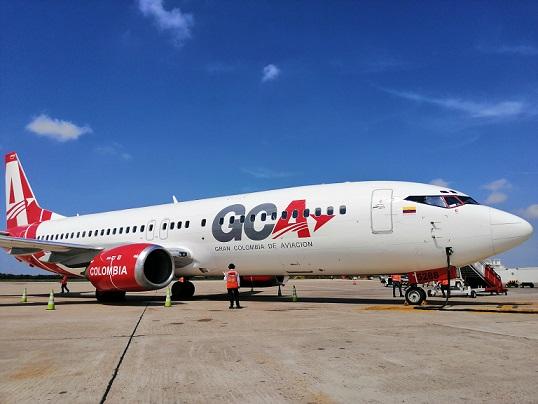 El Ernesto Cortissoz recibe la segunda ruta de Gran Colombia de Aviación: Cali Barranquilla Cali