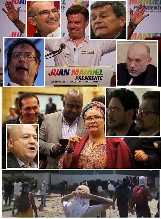 A la carta del paro pidiendo dialogar con el ELN, y acabar con el Esmad, con rúbricas de las Farc, Santos y su corte de chupasangre, y demás, con agenda para implantarle al Gobierno, solo le faltan las firmas de Iván Márquez, Santrich y el Paisa