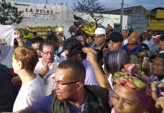 Con todo y Gustavo Petro, la marcha y el cacerolazo en Barranquilla solo fue secundado por unos pocos