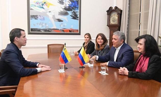 Guaidó llega a Colombia en una gira internacional. Se reunió con Duque, sostendrá reunión con Mike Pompeo y asistirá a la la Cumbre Hemisférica de Lucha contra el Terrorismo