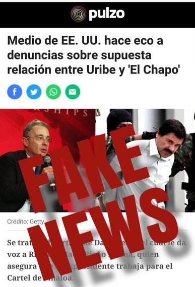 Otro FAKE NEWS contra Uribe que incluso fue descolgado de Univisión por FALSO fue reencauchado por APARENTES MEDIOS INTERNACIONALES