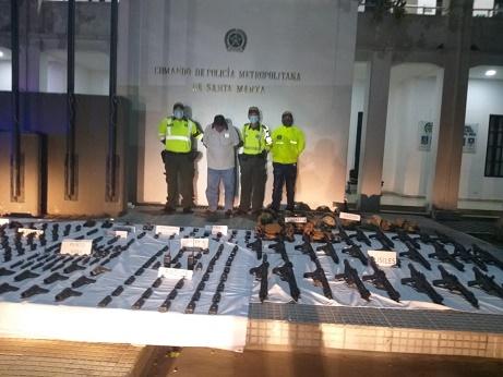 A la cárcel fue enviado el hombre capturado con el arsenal en la vía Barranquilla – Santa Marta