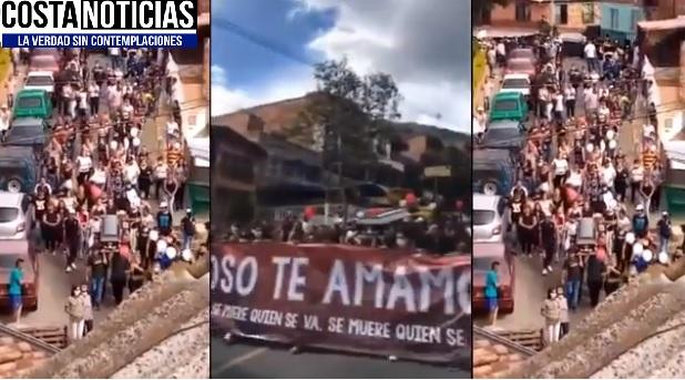 Violan la cuarentena en Bello, Antioquia con cortejo fúnebre de alias El Oso