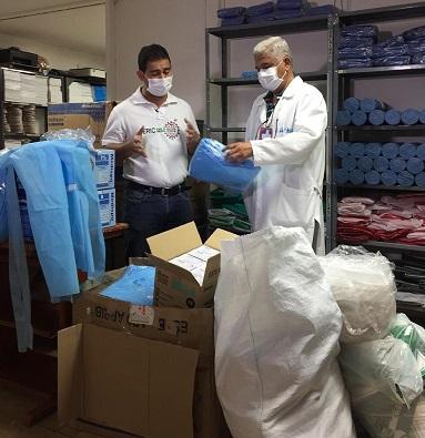 Personal médico del Hospital Rosario Pumarejo de López, reciben nueva dotación de elementos de protección por parte del gobernador Luis Monsalvo