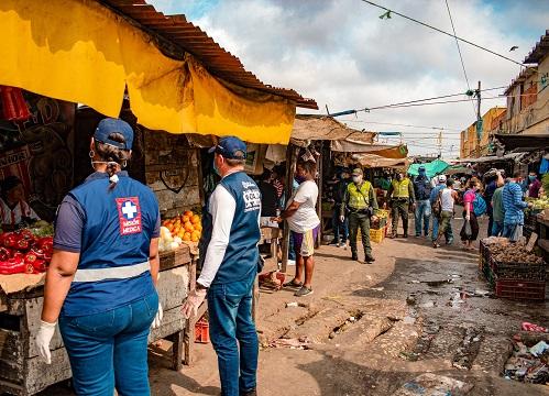En el Centro y Barranquillita, Distrito desplegó operativo de cumplimiento de pico y cédula y medidas de aislamiento obligatorio