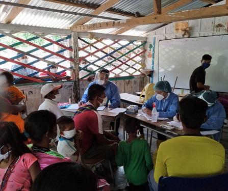 Equipo de Reacción Inmediata COVID-19 realizó investigación de campo en asentamiento Yukpa de Codazzi, para evitar contagios entre la población indígena