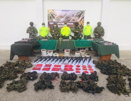 Ejército y Gaula Militar incautan poderoso arsenal de Los Pelusos en Sardinata, Norte de Santander