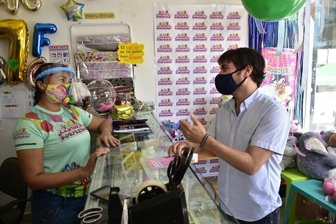 Alcalde Pumarejo inspeccionó sector comercio durante primer día de reapertura gradual en Barranquilla