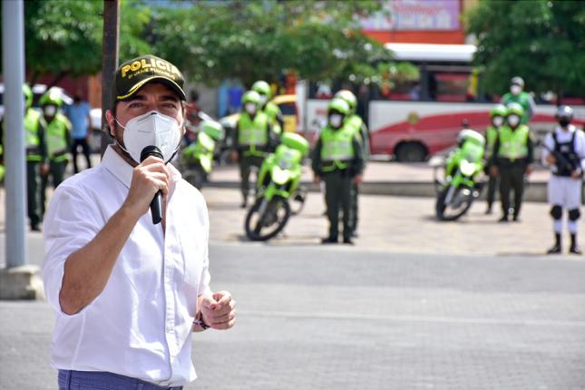 Alcalde Jaime Pumarejo instala nuevo cerco sanitario para el suroriente