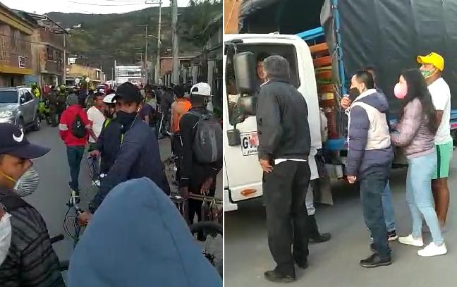 Gente ociosa y corrupta de Tocarinda, en Tocancipá, dejaron a un lado a la Policía y se unieron como cómplices a los venezolanos que atacaron a los uniformados. Y un sujeto pudo escapar con el vehículo