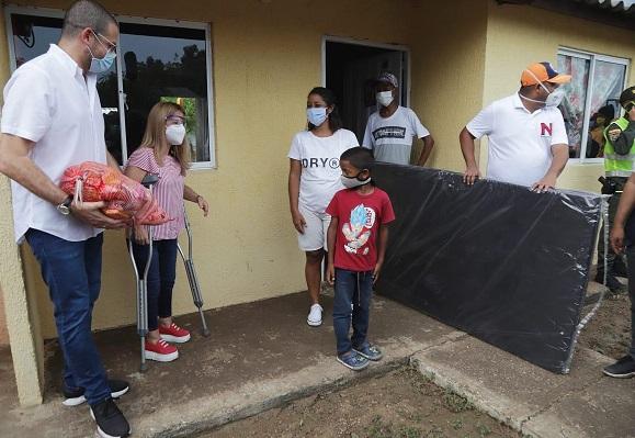 Fueron 406 las viviendas afectadas en el municipio de Candelaria con el desbordamiento de un arroyo y un vendaval