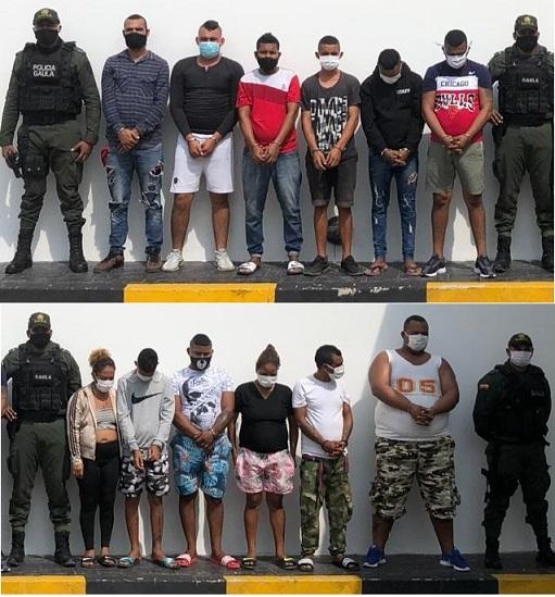 Capturan a 12 de los Costeños, los sindican de 5 asesinatos en el municipio de Soledad