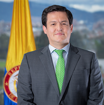 Javier Augusto Sarmiento Olarte es el Ministro encargado de Justicia y del Derecho