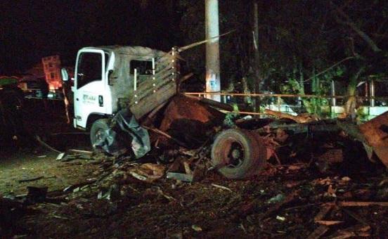 Terroristas activan camión cargado con explosivos cerca al Batallón de Ingenieros No 30 del municipio de Tibú