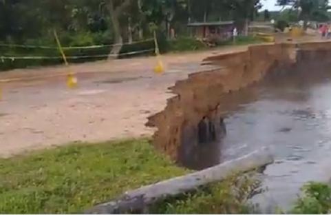 Estaba advertida la erosión que podría sobre venir en la vía El Píñon Salamina Pivijay en el departamento del Magdalena
